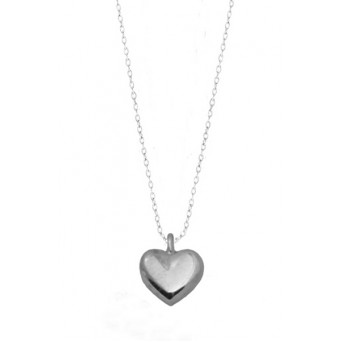 Jt Sterling silver heart charm necklace