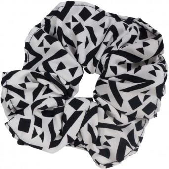 AD Impressιve handmade black & white scrunchie