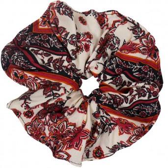 AD Impressιve handmade multicolor silk scrunchie