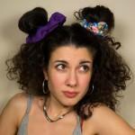 AD Impressιve handmade purple satin scrunchie