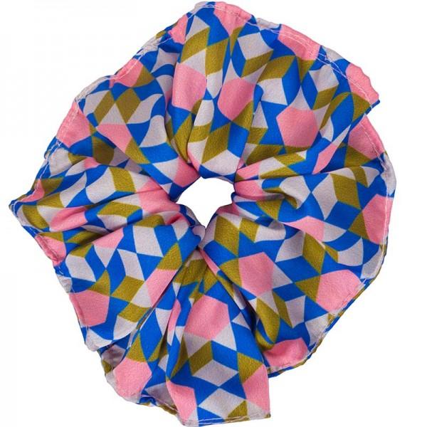 AD Impressιve handmade multicolor satin scrunchie
