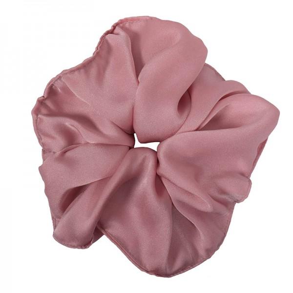 AD Χειροποίητο εντυπωσιακό ροζ σατέν scrunchie