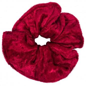 AD Impressιve handmade burgundy satin scrunchie