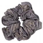 AD Impressive handmade silver lamé scrunchie