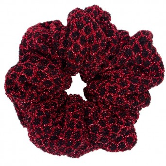 AD Impressive handmade shimmery red scrunchie