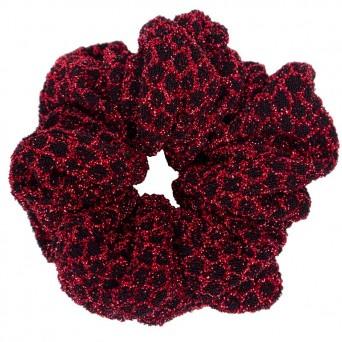AD Χειροποίητο εντυπωσιακό κόκκινο γυαλιστερό scrunchie