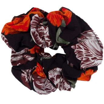AD Impressιve handmade earth color scrunchie