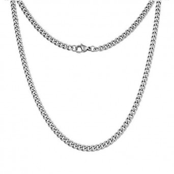Jt Classic unisex cuban style chain necklace 6mm