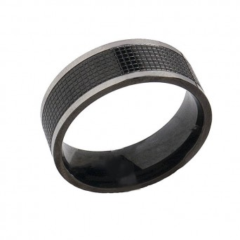 SL Men's Two Coloured Band Stainless Steel Ring