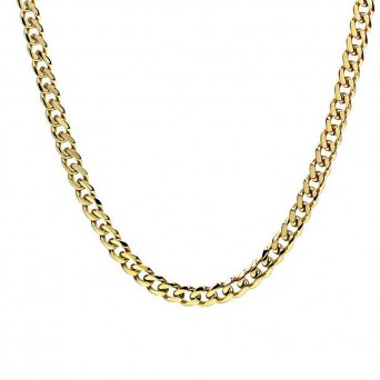 Jt Classic unisex thick golden chain necklace 9mm