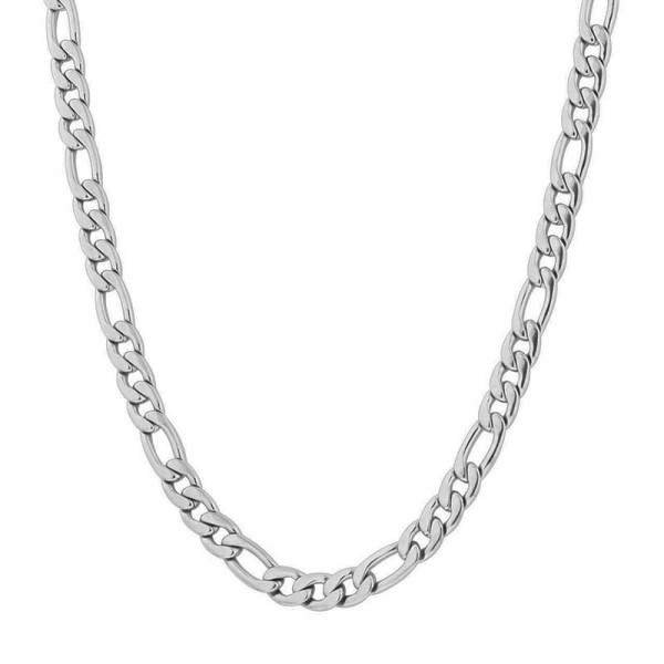 Jt Modern short thin men's chain necklace stainless steel