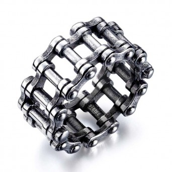 SL Steel men's ring motorcycle chain