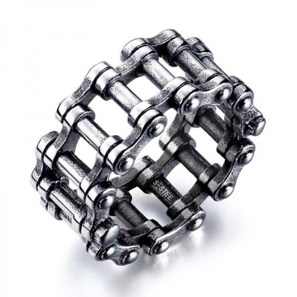 SL Steel men's ring motorcycle chain