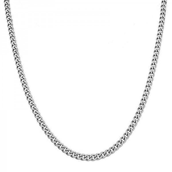 Jt Classic short stainless steel unisex chain necklace 6mm