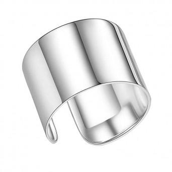 Jt Ασημί ατσάλινο δαχτυλίδι σωλήνας