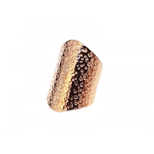 Mc Ροζ πλατύ σφυρήλατο ατσάλινο δαχτυλίδι