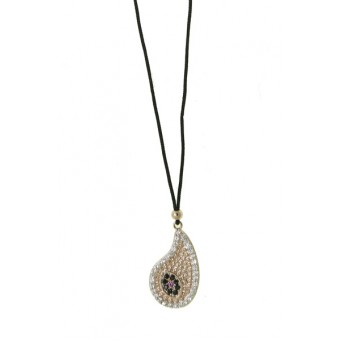 Mc Rose stainless steel paisley necklace