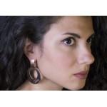Mc Rose stainless steel Love earrings
