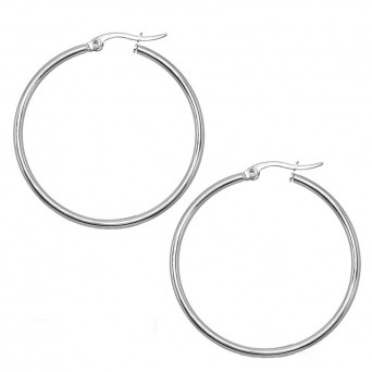 Jt Medium stainless steel hoop earrings 4cm
