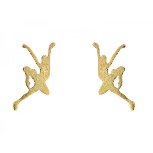 Stelios Gold plated silver ballerina stud earrings