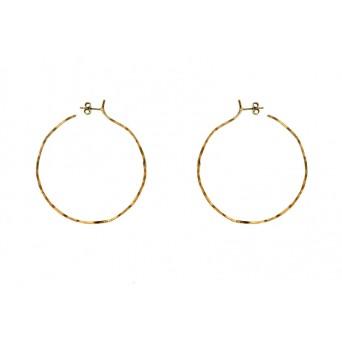 Stelios Gold plated silver wave hoop earrings