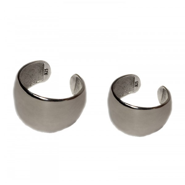 VFJ Plain sterling silver tube ring