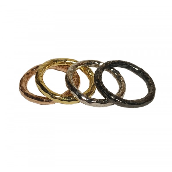 VFJ Silver quadruple set of hummerd rings