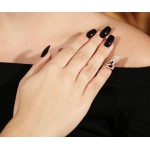 VFJ Ασημένιο δαχτυλίδι νυχιού -mani ring- με ζιργκόν