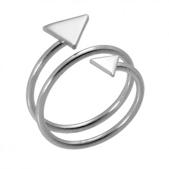 VFJ Sterling silver ring with triangles