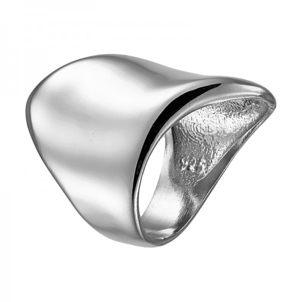 VFJ Sterling silver tube ring with waves