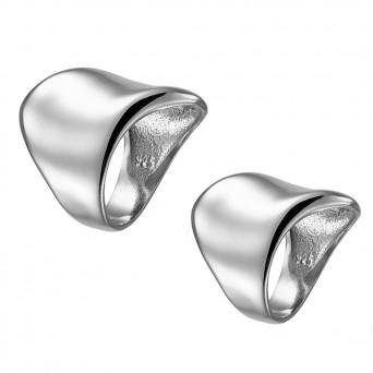 RNG Σετ σκέτα ασημένια δαχτυλίδια σωλήνες με καμπύλες