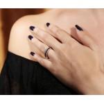 VFJ Aσημένια 3 ολόβερα δαχτυλίδια με ζιργκόν