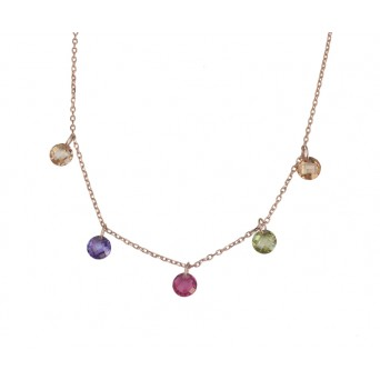 VFJ Rose gold plated silver Swarovski charm necklace
