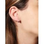 VFJ Sterling Silver Pave Zirconia Double Hoop Earrings