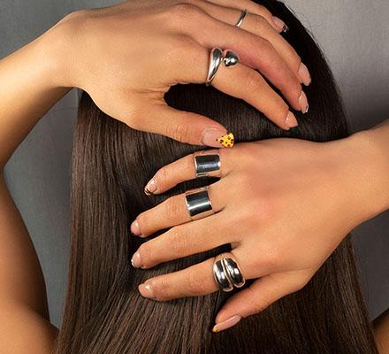 ασημενια δαχτυλιδια σετ σωληνες