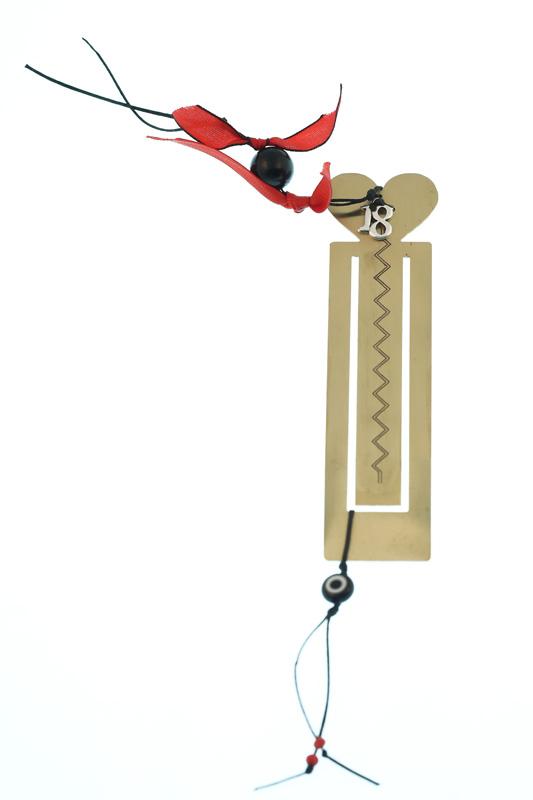 Krini Χριστουγεννιάτικο γούρι σελιδοδείκτης καρδιά