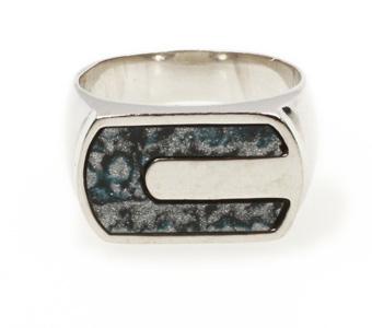 Aetoma Ανδρικό ασημένιο δαχτυλίδι με Λάπις Λάζουλι