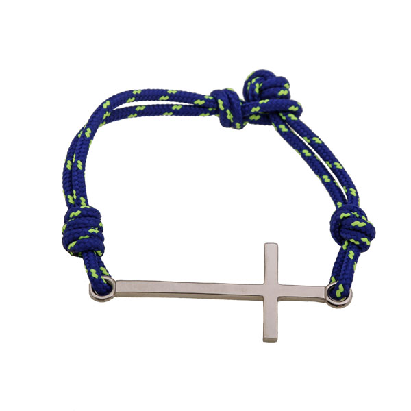 Aetoma Ανδρικό ασημένιο βραχιόλι μεγάλος σταυρός
