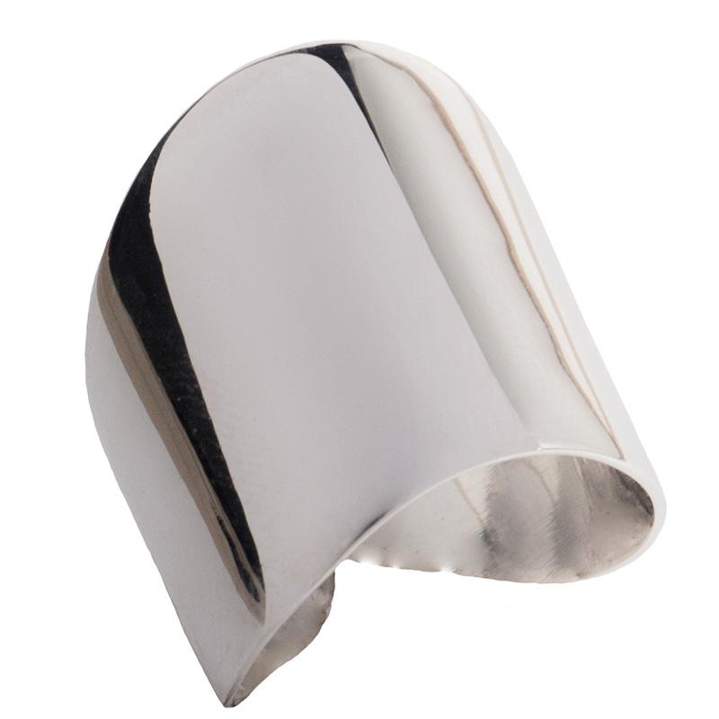AD Σκέτο ασημένιο δαχτυλίδι ασύμμετρο