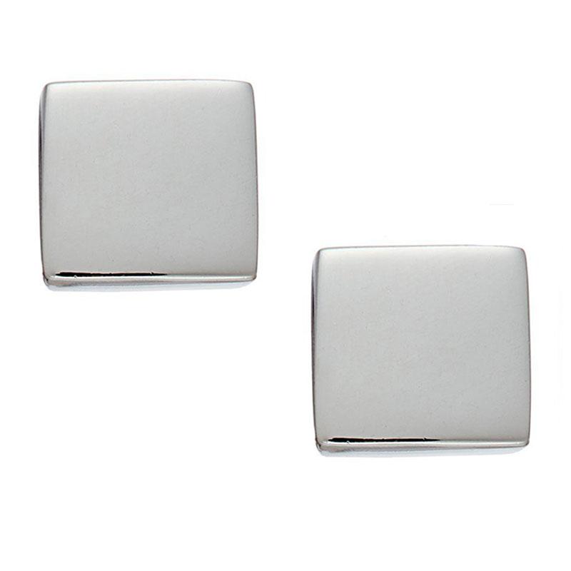 AD Ατσάλινα σκουλαρίκια καρφωτά μικρά τετράγωνα