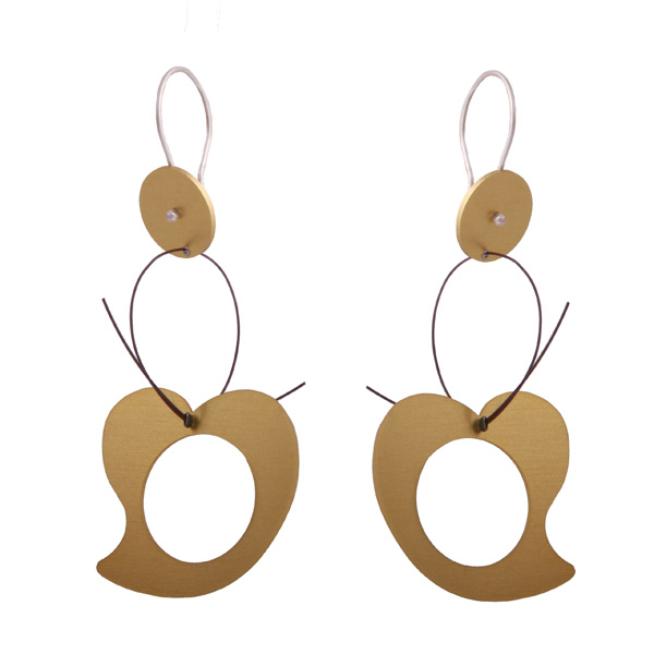 Antria Ασημένια σκουλαρίκια με καρδιά από αλουμίνιο