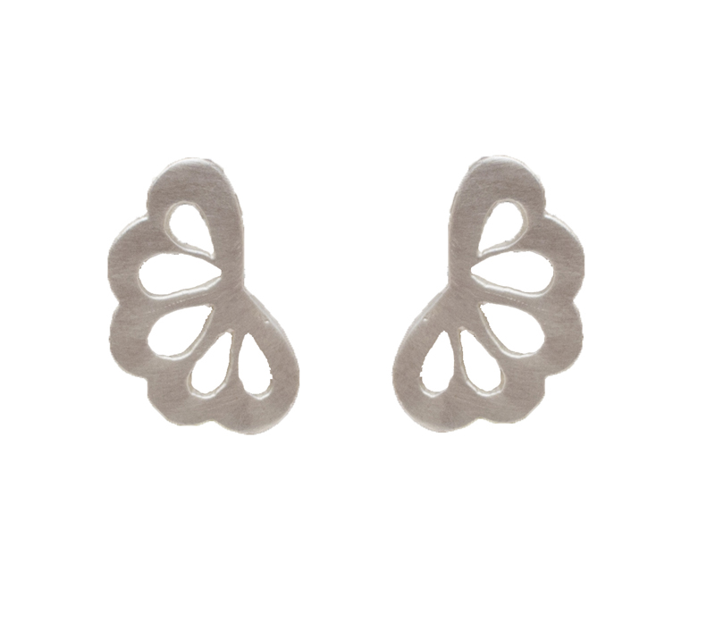 Antria Ασημένια σκουλαρίκια λουλούδι