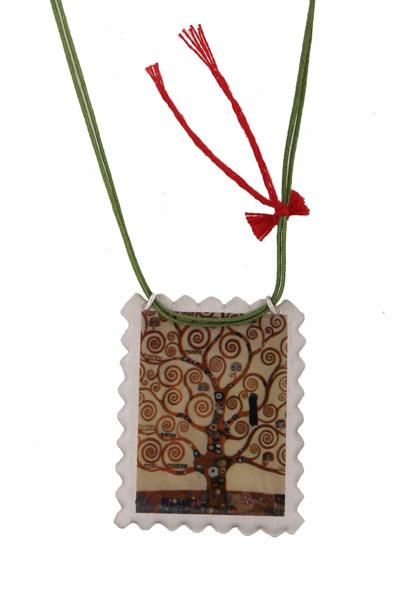 Antria Aσημένιο κολιέ Το Δέντρο της Ζωής