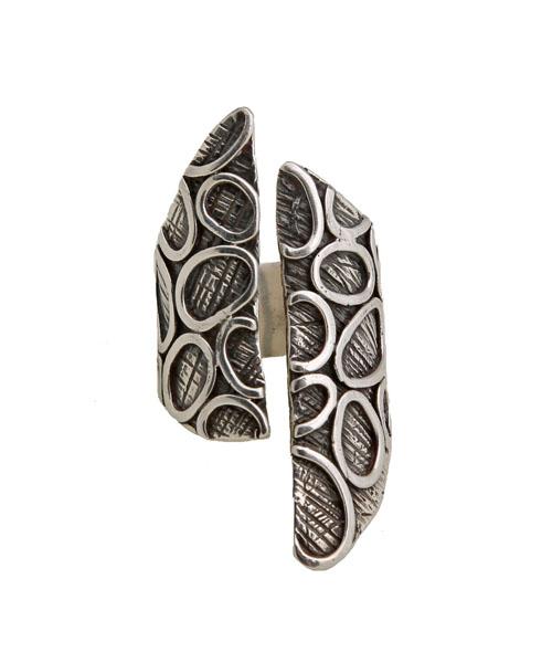 Efstathia Ασημένιο ανοιχτό δαχτυλίδι φουσκάλες