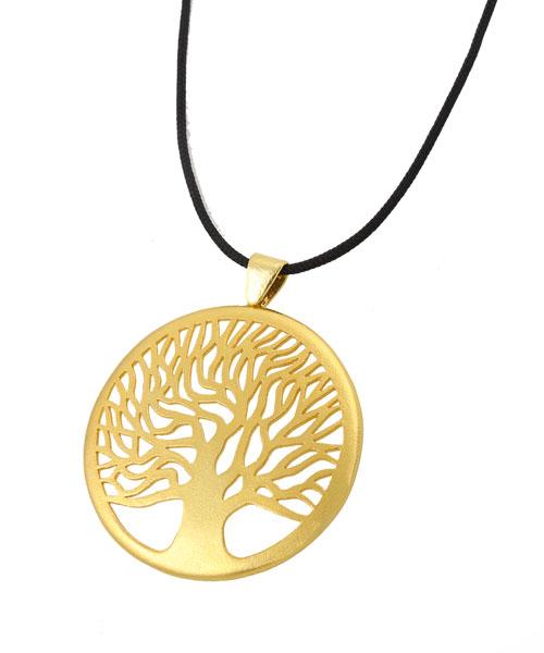 Joy Kολιέ δέντρο της ζωής απο επιχρυσωμένο ασήμι