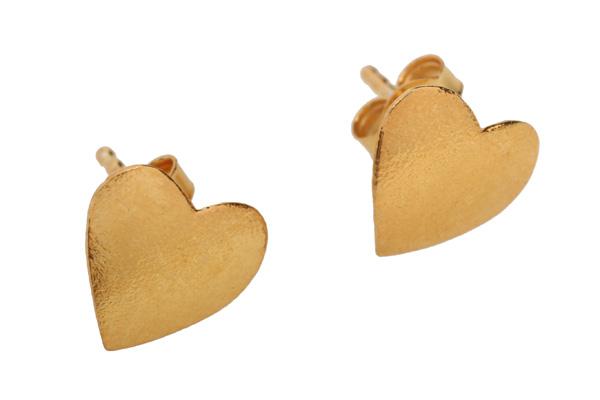 Joy Σκουλαρίκια καρδιές από επιχρυσωμένο ασήμι