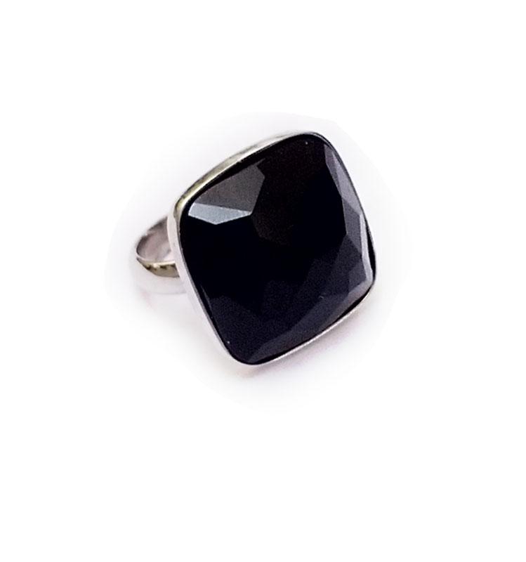 Jt Ασημένιο δαχτυλίδι με όνυχα ταγιέ