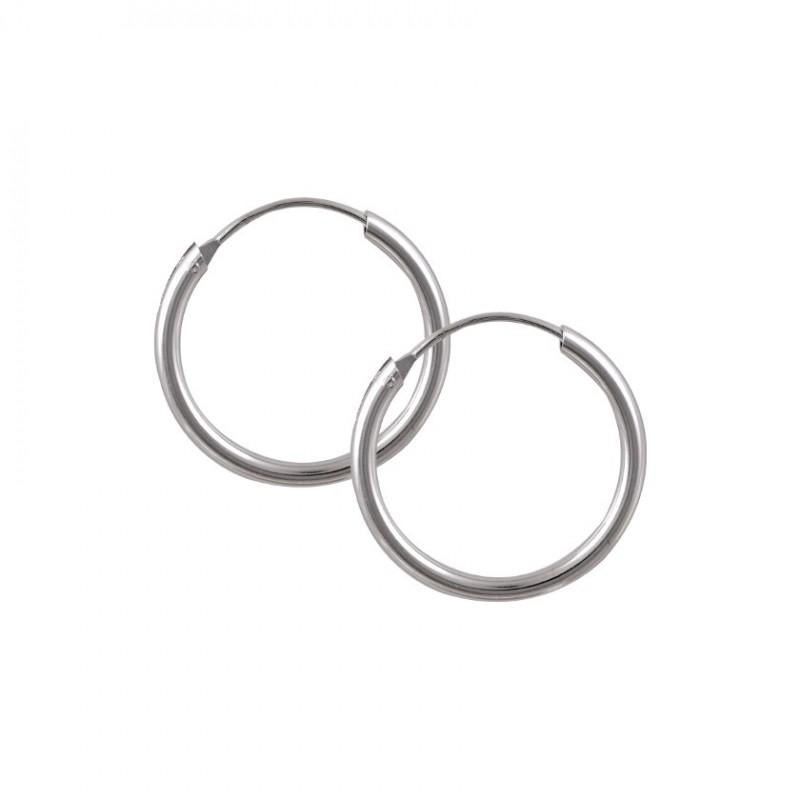 Jt Ανδρικά σκουλαρίκια κρίκοιασημένιοι 1.8cm