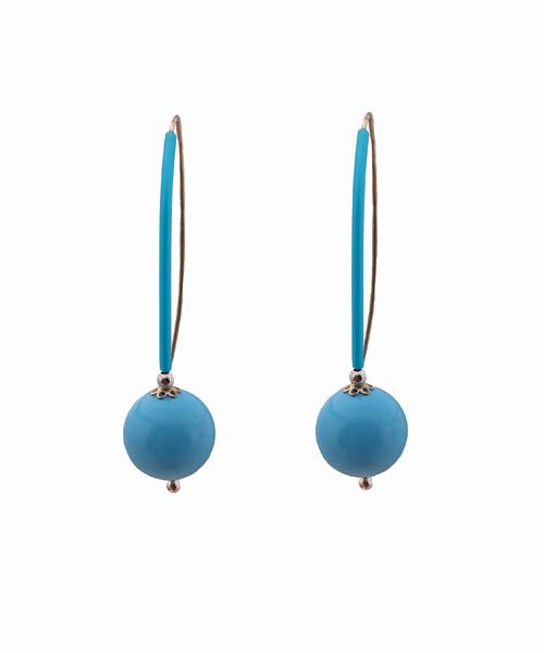 Jt Ασημένια σκουλαρίκια γάντζοι τιρκουάζ