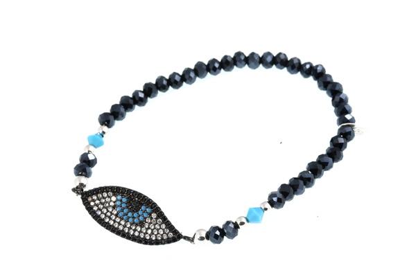 theodorajewellery Jt Ασημένιο ελαστικό βραχιόλι με μάτι alloy acec2f779e5